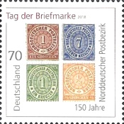 [Stamp Day - The 150th Anniversary of the North German Postal District, type DJO]