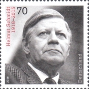 [The 100th Anniversary of the Birth of Helmut Schmidt, 1918-2015, type DKD]