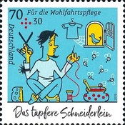 [Charity Stamps - The Valiant Little Tailor, type DKI]