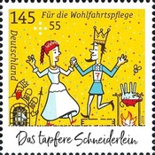[Charity Stamps - The Valiant Little Tailor, Typ DKK]