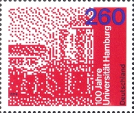 [The 100th Anniversary of the University of Hamburg, type DKQ]