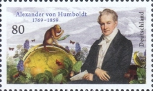 [The 250th Annievrsary of the Birth of Alexander von Humboldt, 1769–1859, Typ DLU]