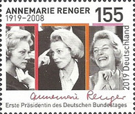 [The 100th Anniversary of the Birth of Annemarie Renger, 1919-2008, type DLZ]