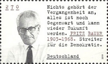 [Personalities - Fritz Bauer, 1903-1968, Typ DME]