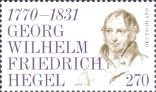 [The 250th Anniversary of the Birth of Georg Wilhelm Friedrich Hegel, 1770–1831, Typ DNV]