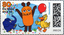 [The Mouse Celebrates with Elephant and Duck, type DOY]