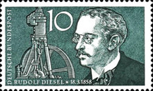 [The 100th Anniversary of the Birth of Rudolf Diesel, 1858-1913, type DT]