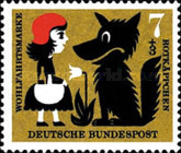 [Charity Stamps - Little Red Ridinghood, Typ FL]