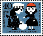 [Charity Stamps - Little Red Ridinghood, Typ FO]