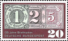 [The 125th Anniversary of the First German Stamp, type KU]