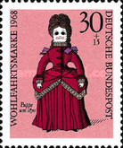 [Charity Stamps - Dolls, Typ OA]