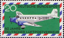 [The 50th Anniversary of the German Airmail, type OD]