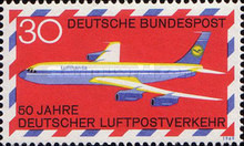 [The 50th Anniversary of the German Airmail, type OE]
