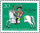 [The 250th Anniversary of the Birth of Baron von Münchhausen, type PV]