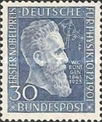 [The 50th Anniversary of Wilhelm Röntgen's Nobel Prize in Physics, type R]