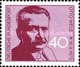 [The 100th Anniversary of the Birth of Otto Wels, Social Democrat, Typ UY]