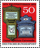 [The 100th Anniversary of the World Postal Union, type WR]
