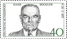 [The 100th Anniversary of the Birth of Hans Böckler, Trade Union Leader, type WY]