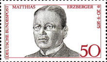 [The 100th Anniversary of the Birth of Matthias Erzberger, Polititian, type YF]
