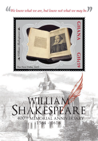 [The 400th Anniversary of the Death of William Shakespeare, 1564-1616, type ]