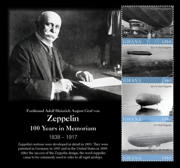 [The 100th Anniversary of the Death of Ferdinand von Zeppelin, 1838-1917, type ]