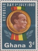 """[Republic Day - Overprinted """"REPUBLIC DAY 1ST JULY 1960"""", type BH]"""