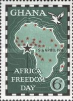 """[Africa Freedom Day - Overprinted """"15th APRIL 1961"""", type BW]"""