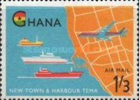 [Airmail - Opening of Tema Harbour, type CM]