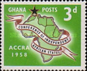 [The 1st Conference of Independent African States, Accra, type K1]