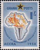 [The 1st Conference of Independent African States, Accra, type L]