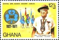 [The 50th Anniversary of Ghana Girl Guides, type LU]