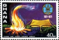 [The 50th Anniversary of Ghana Girl Guides, type LW]