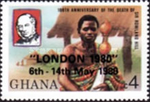 """[International Stamp Exhibition """"London '80"""" - London, England - Issues of 1980 Overprinted """"LONDON 1980"""" 6th - 14th May 1980, type YX]"""
