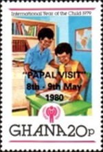 """[Papal Visit - Issues of 1980 Overprinted """"PAPAL VISIT"""" 8th - 9th May 1980, type ZC]"""