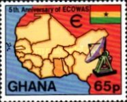 [The 5th Anniversary of Economic Community of West African States, type ZR]