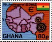 [The 5th Anniversary of Economic Community of West African States, type ZS]