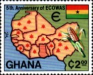 [The 5th Anniversary of Economic Community of West African States, type ZT]