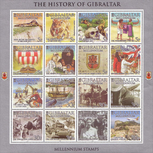 [Millennium Stamps - History of Gibraltar, type ]