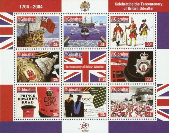 [The 300th Anniversary of the Crown Colony Gibraltar, type ]