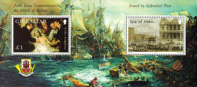 [The 200th Anniversary of the Battle of Trafalgar - Stamp from Isle of Man is not Valid in Gibraltar, type ]