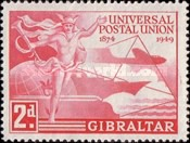 [The 75th Anniversary of the Universal Postal Union, type AB]