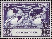 [The 75th Anniversary of the Universal Postal Union, type AC]