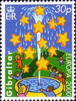 [EUROPA Stamps - Tower of 6 Stars, type ACP]