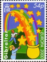 [EUROPA Stamps - Tower of 6 Stars, type ACS]