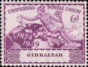 [The 75th Anniversary of the Universal Postal Union, type AD]