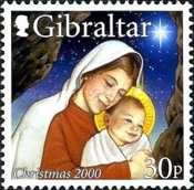 [Christmas Stamps, type AEF]