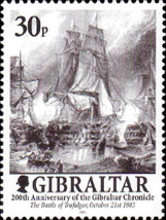"""[The 200th Anniversary of the """"Gibralta Chronicle"""", type AFE]"""