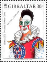 [EUROPA Stamps - The Circus. Famous Clowns, type AGI]