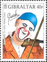 [EUROPA Stamps - The Circus. Famous Clowns, type AGJ]