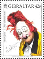 [EUROPA Stamps - The Circus. Famous Clowns, type AGK]